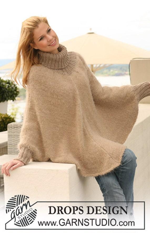Winter poncho full lenght poncho alpaca poncho knitted