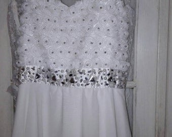 White dress shabby chic dress Luxury Holiday