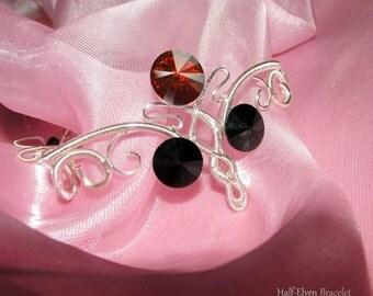 Half-Elven Bracelet, elven bracelet, elegant bracelet, wire bracelet, swarovski bracelet, elvish jewelry, elven wedding, fantasy jewelry