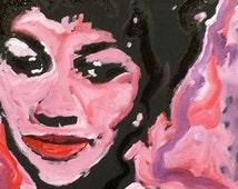 Music Art Aretha Franklin by Matt Pecson 12x12 MADE TO ORDER Canvas Painting Canvas Wall Art Pop Art Painting OIl Painting Pink Painting