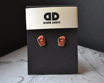 Frida Kahlo Stud Earrings Jewelry Mexican Art Women