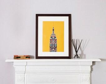 Multicolour Empire State Building - Yellow