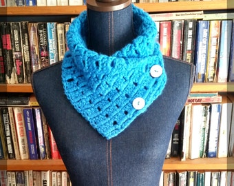 READY TO SHIP!! Limited Edition! Blue Cowl