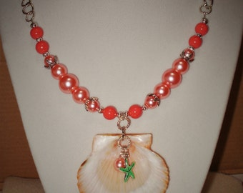 Coral Shell Necklace
