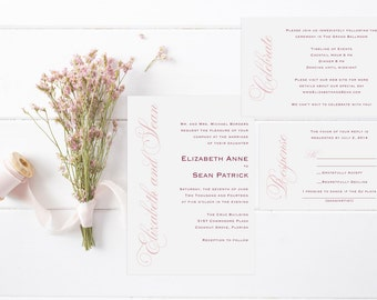 Sweet Script Invitation Suite-DIGITAL/PRINTABLE