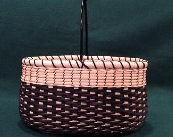 Black Ti Handwoven Artisan Basket