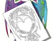 Celtic Dragons Coloring P...