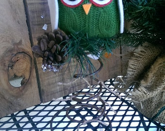 Owl Christmas Tree Topper Rustic  Bed Spring Owl Decor Holiday Decor