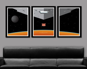 Force Inspired - Star Wars Inspired Minimalist Movie Poster Set Edition One - Home Decor