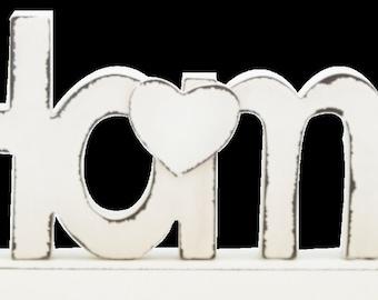 Home Décor- Dream, Family and Home- Cream