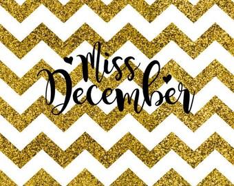 Miss December SVG