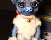 Cariboo OOAK posable doll gift spirit fantasy creature fairy deer cute art craft kawaii soul north animal fawn magic blue white winter polar