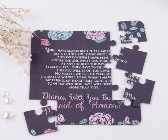 Will You Be My Maid of Honor Puzzle Invitation Maid of Honor Proposal Maid of Honor Gift Ask Maid of Honor Invitation