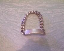 Vintage gold tone Speidel ID link bracelet engraved Steve