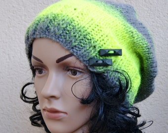 grunge,hat for the young at heart,acrylic and wool yarn, girl, women, gift, slouchy knitting