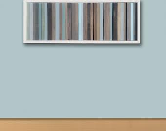 "Reclaimed Wood Wall Art , wood wall art, rustic, modern, --- [40"" x 15""]"