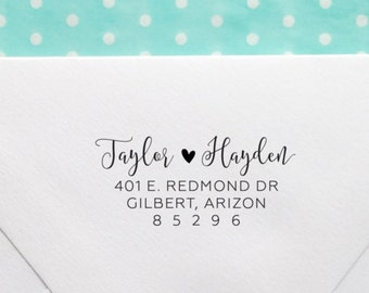 Return Address Stamp, Wood or Self-Inking Address Stamp, Wedding Invitation Stamp, Personalized Stamp, Housewarming Gift, Style No. 115