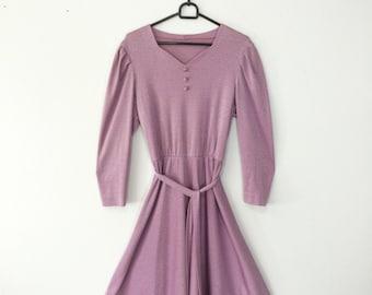 Vintage dress / womens dress / summer dress / day dress / 1950s  MINIMALISTIC dress / LILA dress