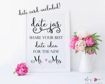 Date Jar Sign. Date Night Jar. Date Night Ideas. Date Night Jar Sign. Date Night Idea Cards. Date Night Cards. Wedding Printables.