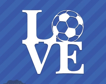 Love Soccer Vinyl Decal Sticker