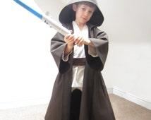 Jedi Robe Star Wars Cloak Luke Skywalker Costume Sewing Pattern Pdf Kids Obi Wan Kenobi Anakin Boys Children Dressing Up Digital Download