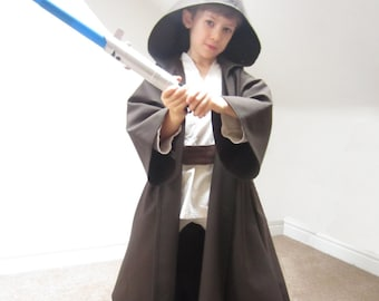 Jedi Robe Star Wars Cloak Luke Skywalker Costume Sewing Pattern Pdf Kids Obi Wan Kenobi Anakin Boys Children Dressing Up Digital Download