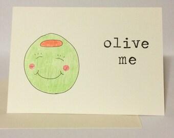 Olive Me Loves Olive You - Greeting Card