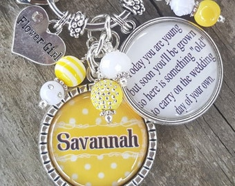 PERSONALIZED FLOWERGIRL GIFT, Personalized Flower Girl Gift, Personalized Flower Girl Necklace, Flower Girl Jewelry, Custom Flower Girl Gift