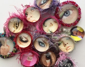 Cool, Edgy, Jewelry Lot, Eyes, Artsy Fartsy, OOAK, Funky, Weird, Charms