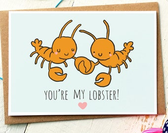 Youre My Lobster - Funny Love Cards - Anniversary Card - Friends TV Show - You Are My Lobster - Boyfriend Card - Girlfriend Card - Love Card