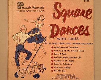 """SQUARE DANCES With Calls - 10"""""""