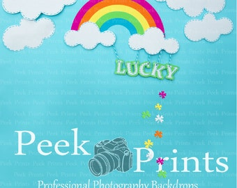 5ft.x5ft. Oh SO LuCky Photography Backdrop- St. Patricks Day Mini Session Backdrops