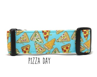 Dog Collar, Pizza Dog Collar, Food Dog Collar, Funny Dog Collar,  Boy Dog Collar, Girl Dog Collar (Upgrade to Metal Buckle or Martingale)