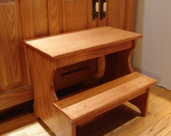 NEW MODEL Smaller first step Handcrafted 16.5  tall Step Stool Pet Steps & Bedside step stool   Etsy islam-shia.org
