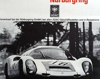1968 ADAC 1000 KM Race - Original Vintage Poster