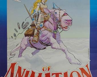 1987 Animation Festival - Original Vintage Poster