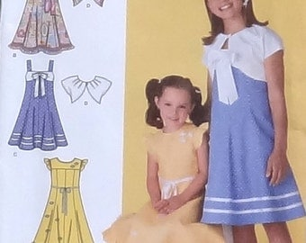 Simplicity Sewing Pattern - Girls Dress and Bolero Jacket #2467 - Size 3+4+5+6 - UNCUT Factory Folded