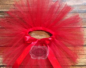 Red Tutu Red Bow Tutu Birthday Tutu Custom Tutu Newborn Tutu Baby Tutu Girl Tutu Photo Prop Tutu Skirt