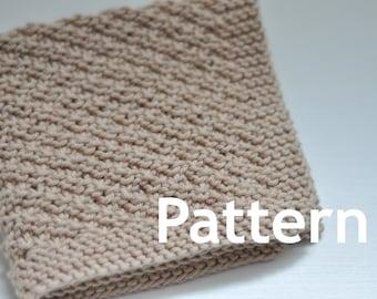 Washcloth / Dishcloth Knitting PATTERN - Veer Left