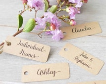 Wedding Personalised Name Tags - Place Cards - Name Labels - Mini Tags - Engagement Party Favour - Customised Tag