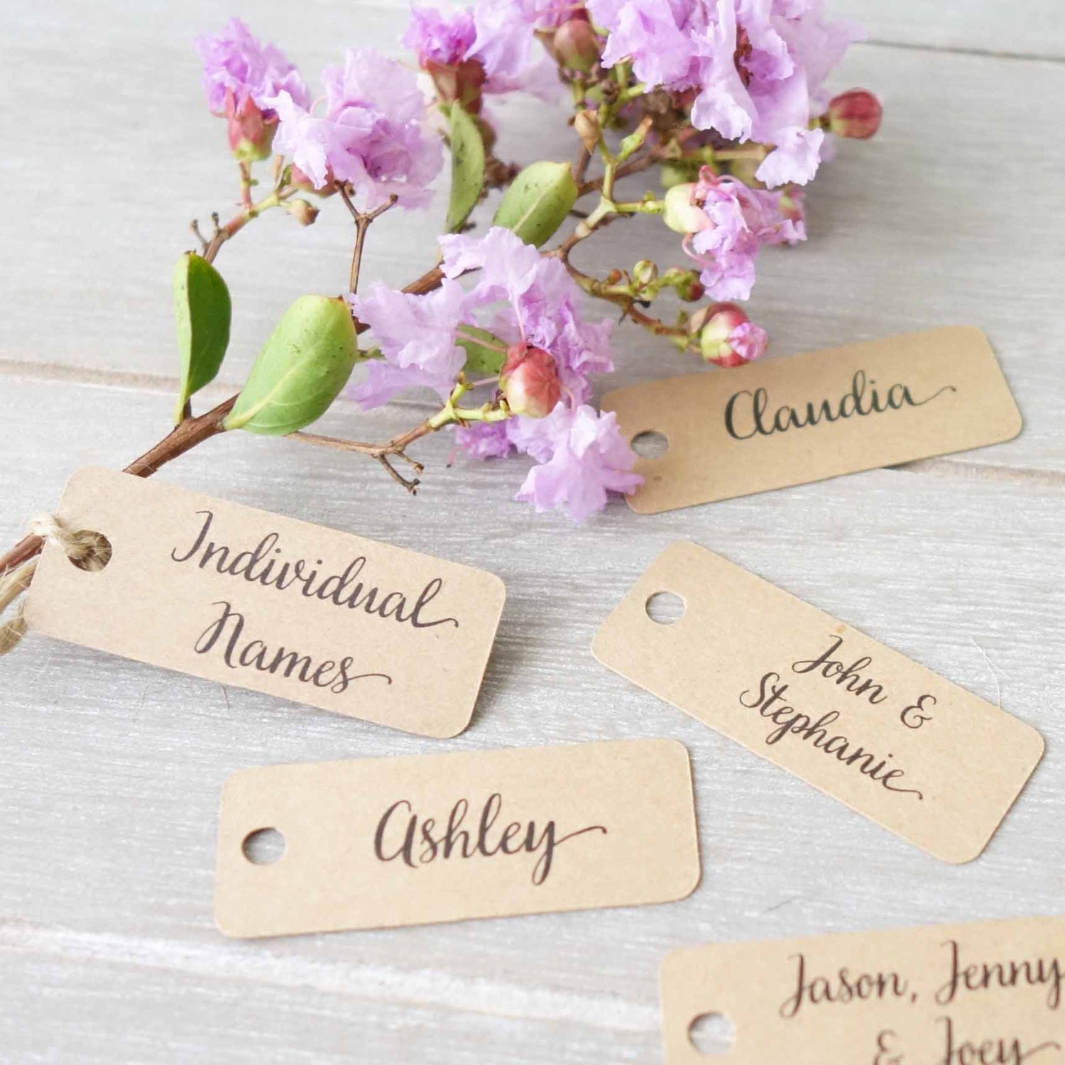 Wedding Personalised Name Tags Place Cards Labels