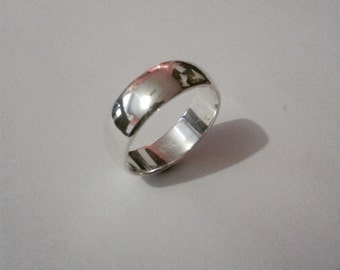 Sterling Silver D shape band Ring