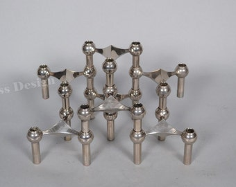 5 Stackable  Mid Century Nagel candle holders