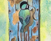 Blue Bird Art, Birdhouse ...