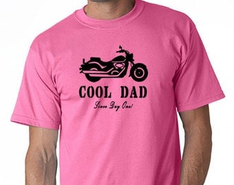 Father's Day Cool Dad T- Shirt Motorcycle Since Day One