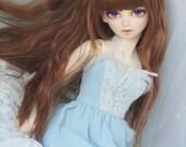 bjd doll wig,1/3 1/4 doll girl  wig ,Long curly hair wig ,type for volks sdgr sd10 dod leeke cb DD MSD