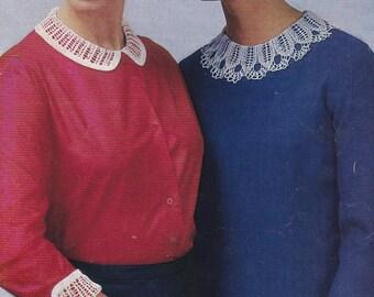 PDF crochet collar pattern and cuffs vintage crochet pattern pdf INSTANT download pattern only pdf