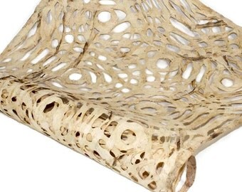 Amate Bark Paper from Mexico - Circular Pattern - Marble