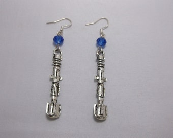 Hypoallergic Doctor Who Sonic Screwdriver Earrings