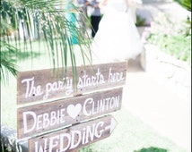 large Wedding Sign Welcome Sign with names and Arrow Church Yard Sign Entrance Rustic Wedding Reception Signage Entrance Sign Country Sign